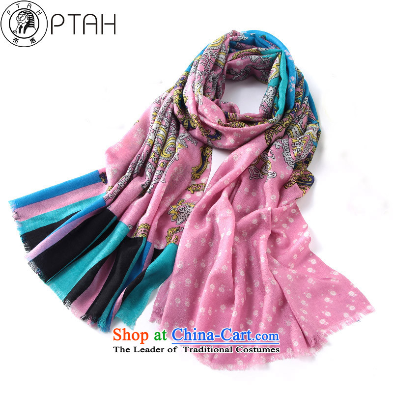 Buta New 2015 Ms. autumn and winter stamp warm wool Fancy Scarf 4PT304 use two pink
