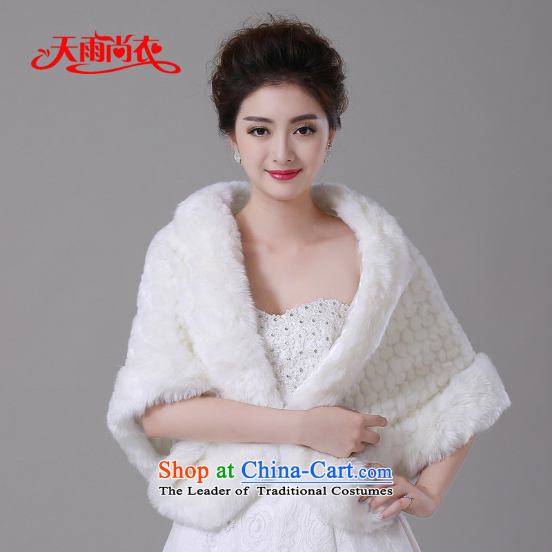 Rain Coat bride gross shawl yet wedding dress white overcoat large warm winter wedding shawl PJ0123
