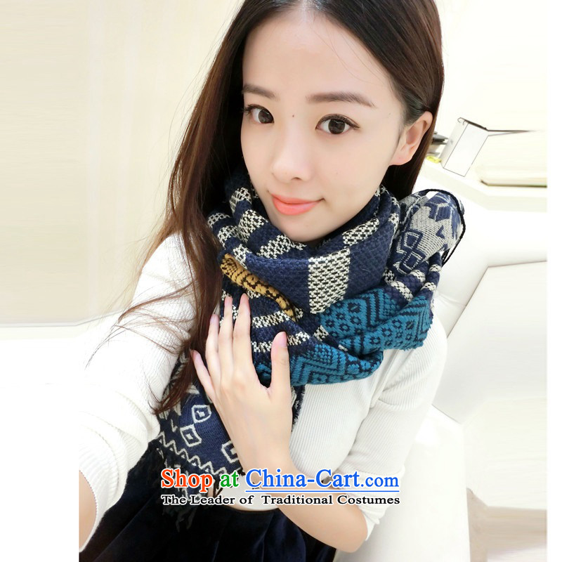 Sepia ethnic warm winter thick Fancy Scarf use two Korean teenage girls in spring and autumn