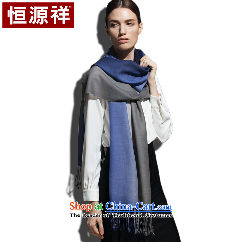 Hang Yuen Cheung-mercerized wool of dyeing scarves thin and light, soft-skin care (Cowboy blue and gray)