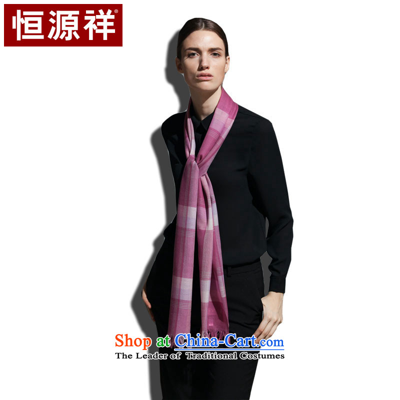 Hang Yuen Cheung-mercerized wool Princess Returning Pearl scarf soft and comfortable Ms. gray powder _pink_