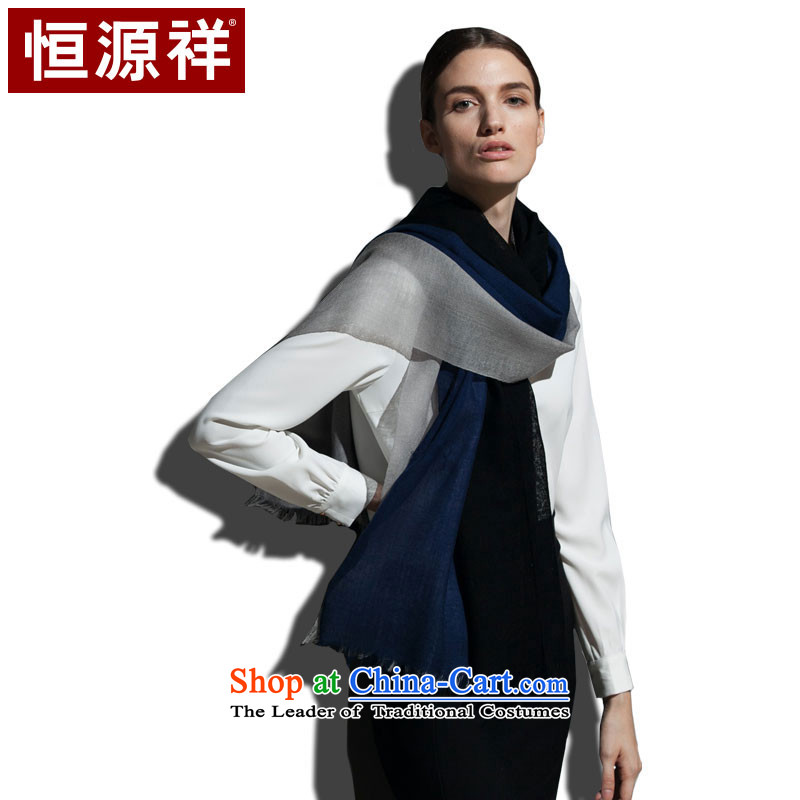 Hang Yuen Cheung-mercerized wool, three-tier scarf and strategically placed ventilation is simple and stylish black and gray group (Black Gray)