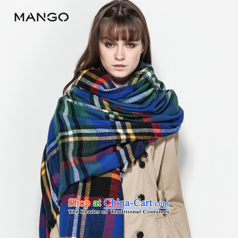 The MANGO accessories series Blu-shawl scarf of stamp 5404363253