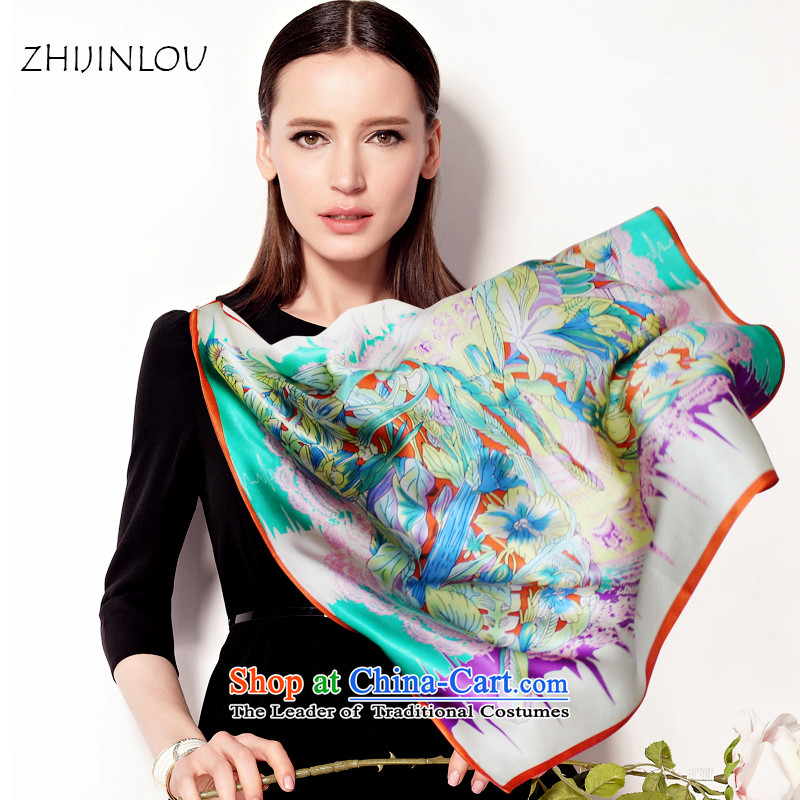 Tapestries floor silk scarves summer women sunscreen herbs extract Chinese towels Fancy Scarf ZC3854 Jungle Tour