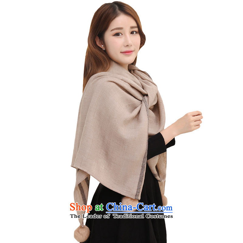Shanghai Story Ms. scarves Korean wooler scarf intensify shawl thick, warm with Gross Gross ball and color ball