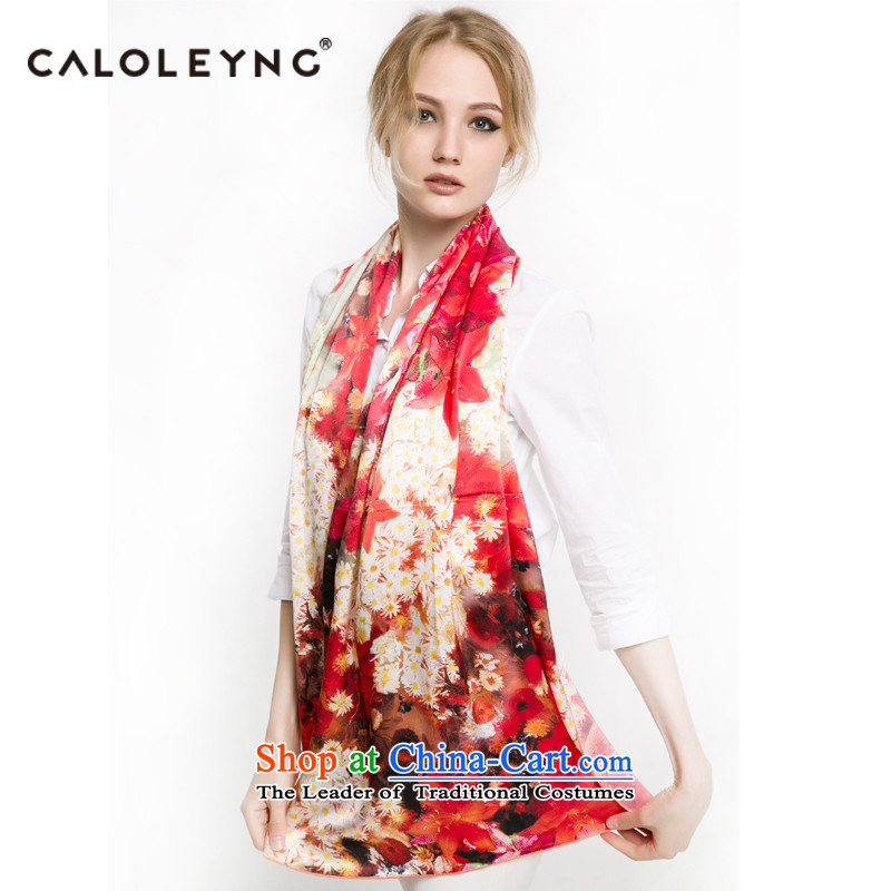Charlotte sheep to China wind silk scarfs, autumn and winter long new herbs extract silk scarf long towel red