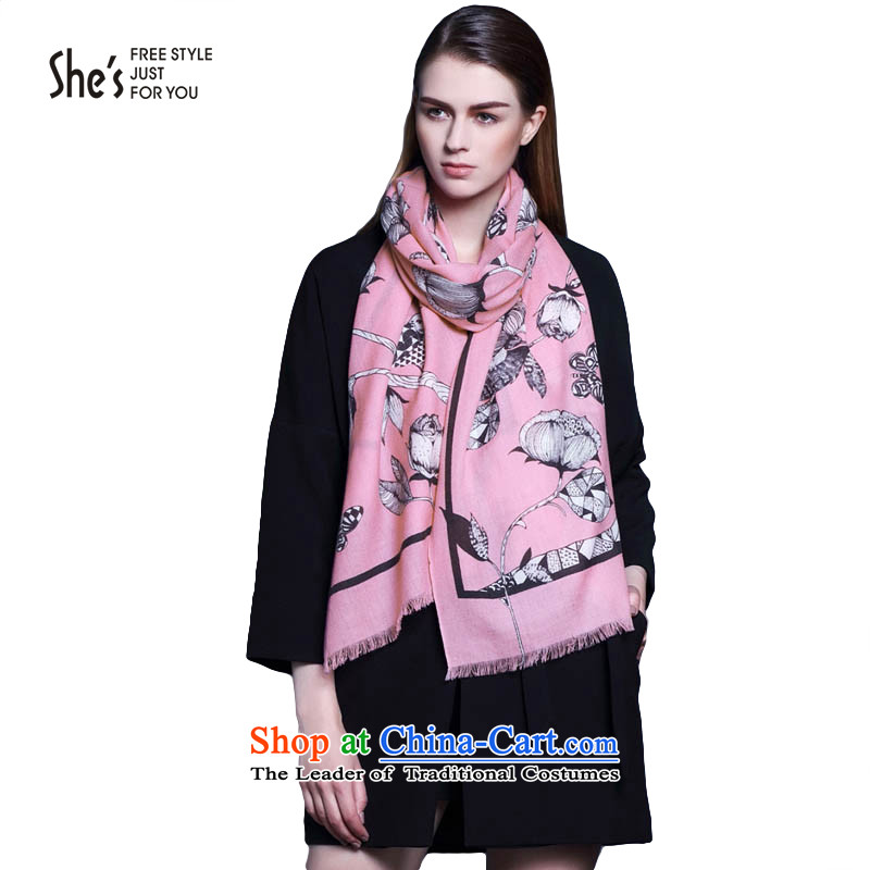 She's scarf accessories birds, flowers wool autumn and winter scarf long soft shawl with womenSSP9519335 two A0