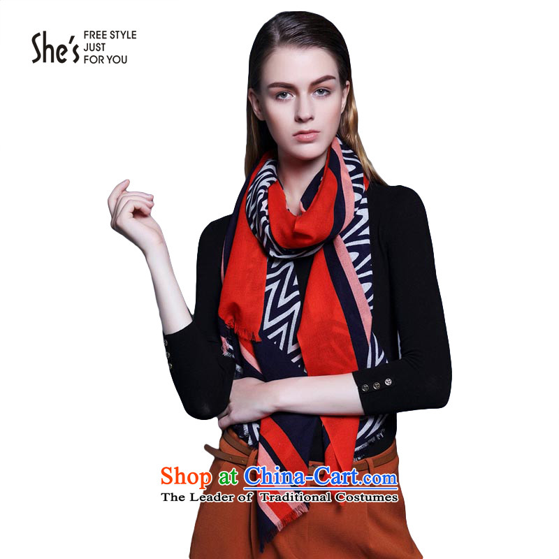 She's Accessories Pope streaks autumn and winter wool long shawl warm scarf SSP95193370