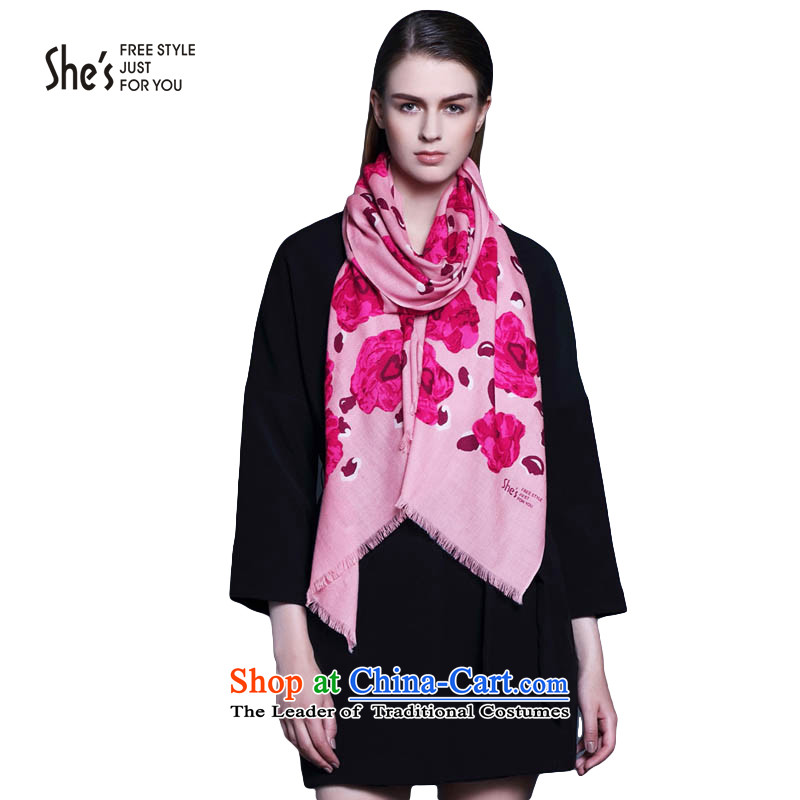 Mrs Ure child accessories she's roses leopard wool autumn and winter scarf long stream of female SSP9519333 shawl0