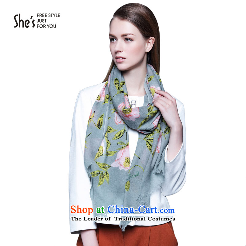 New products of the scarf flower she's stamp woolen shawl long warm furnishings SSP9519315 M0