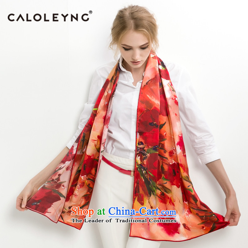 Charlotte to sheep silk scarfs sauna silk scarves long female autumn and winter air conditioning shawl long towel red, red and green garden