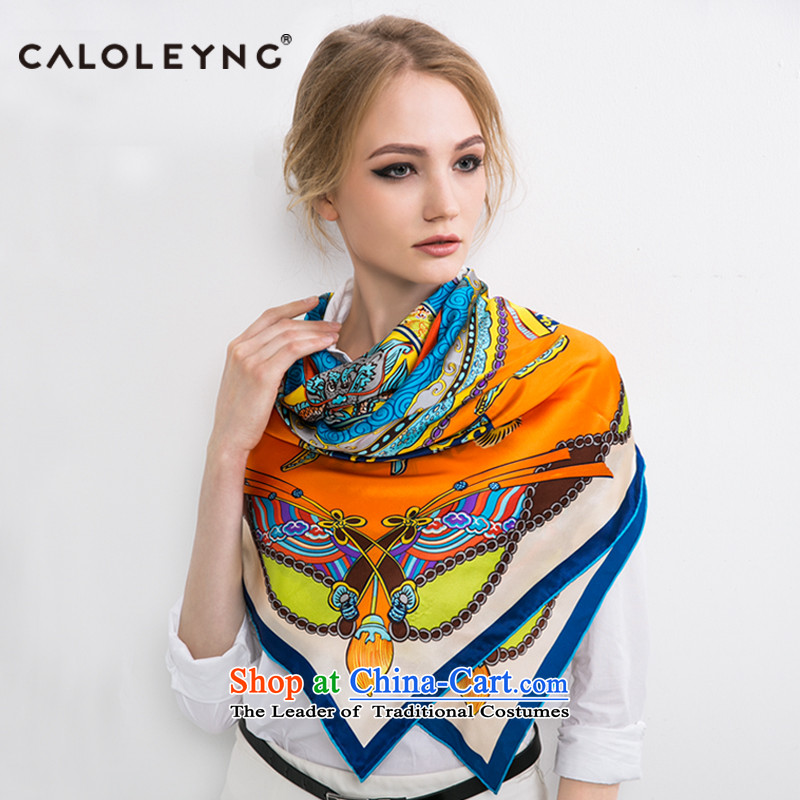 Charlotte to sheep silk scarves herbs extract and classy towel oversized shawl female autumn and winter new products shawl scarf two with orange