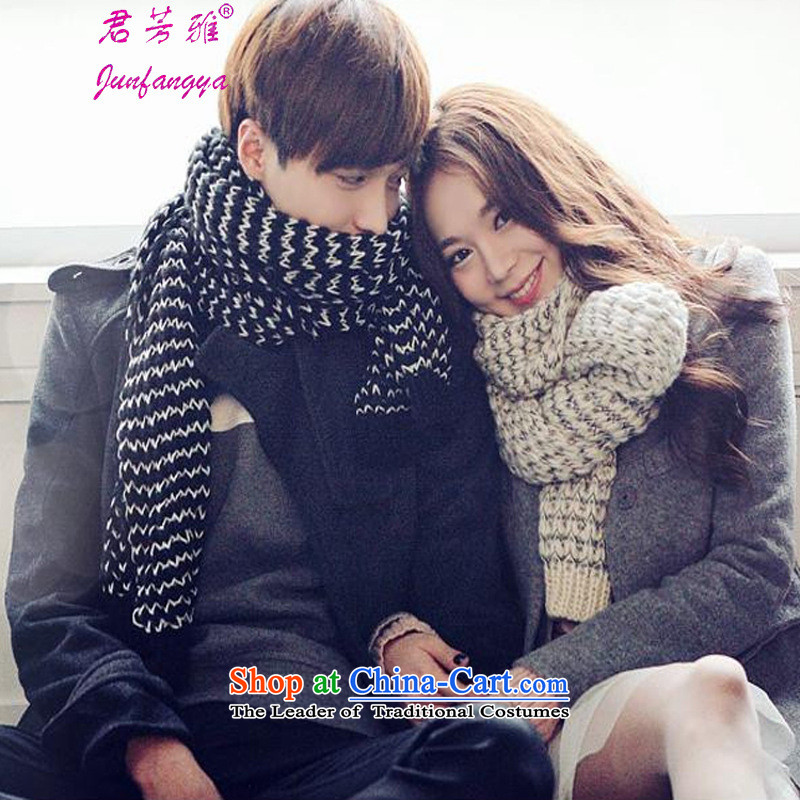 Kwan Fong Nga autumn and winter Korean new couple of men and women a scarf black