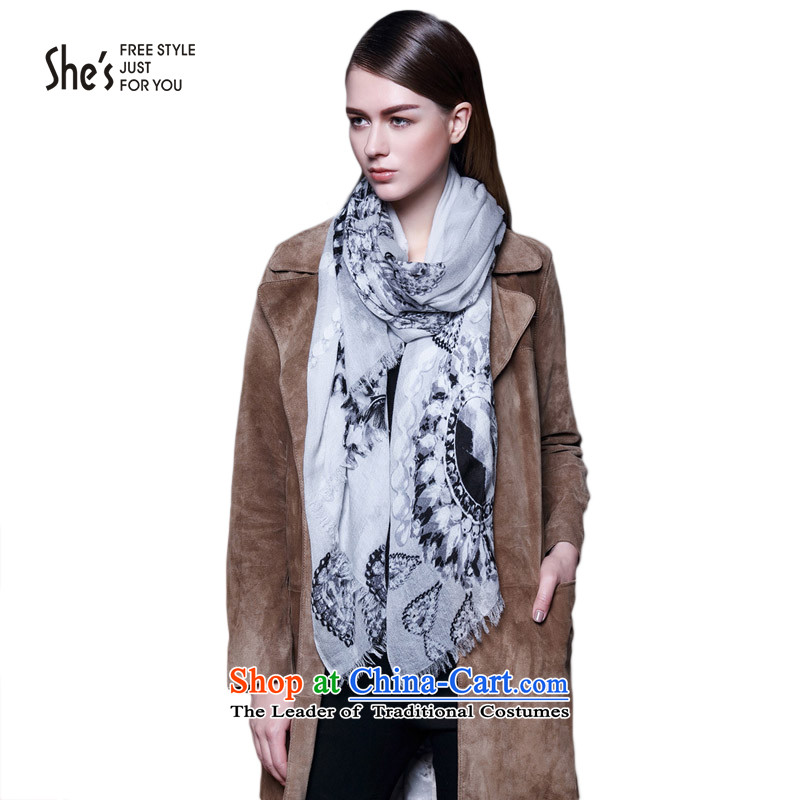 She's scarf accessories kiyomasa stamp soft credit Cashmere scarf rings lint-free warm shawl聽SSP9619074 M0