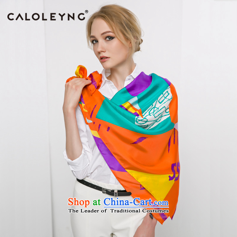 Charlotte to sheep herbs extract and classy towel silk scarves silk scarves female autumn and winter shawl maxi stamp of the chador lime green