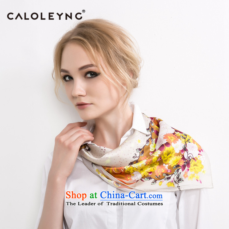 Charlotte to sheep silk small towel herbs extract bank vocational silk scarf bind packages towel thin yellow scarves female autumn and winter.