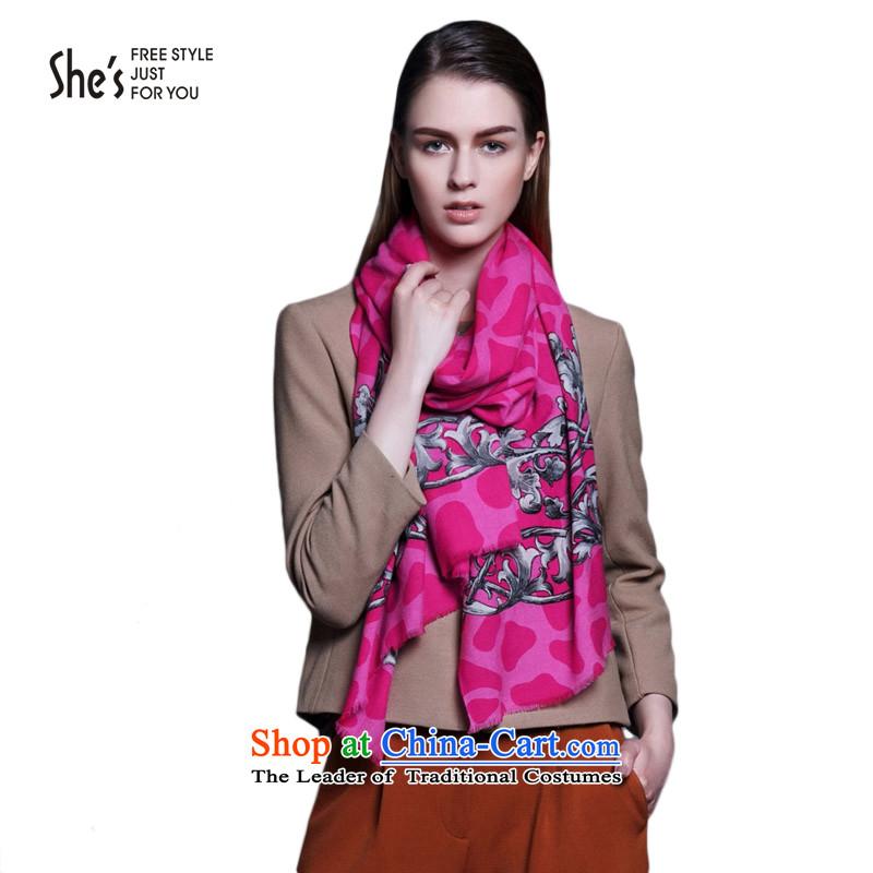 She's Accessories Leopard flowers totem wooler scarf long warm shawlSSP96190980