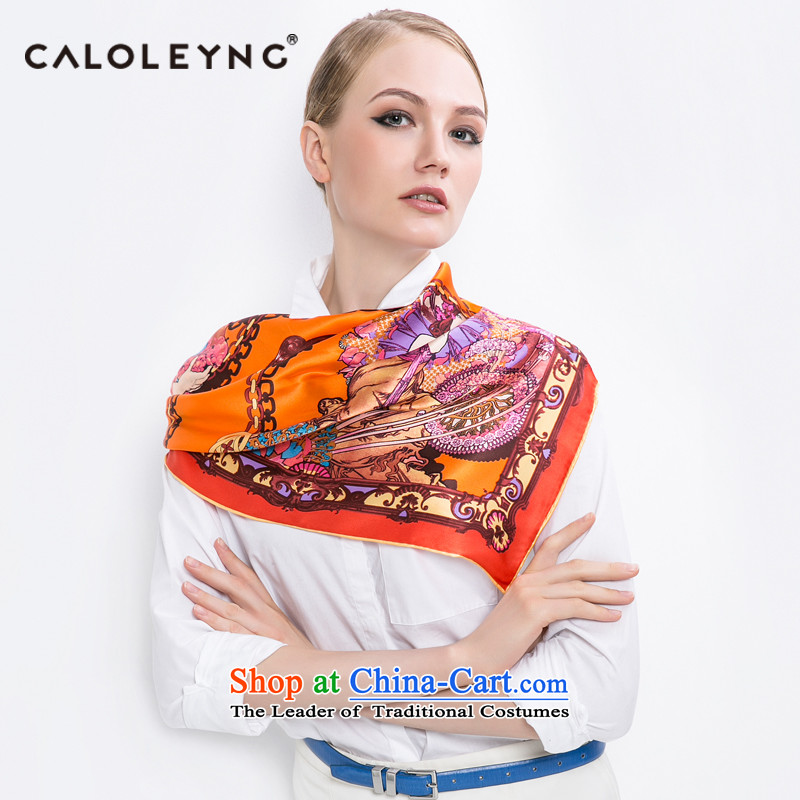 Charlotte to sheep silk scarf herbs extract silk scarf women towel and classy autumn and winter shawl party silk scarf oversized orange