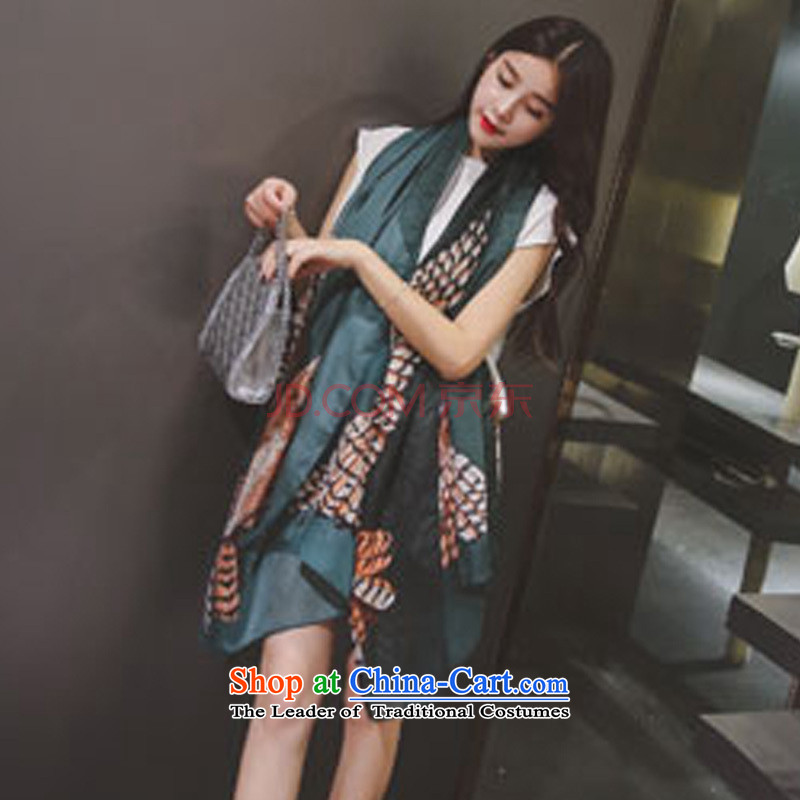 Anthology of New Korea CHEGEE edition scarf female cotton linen scarf eagle pattern and classy towel red