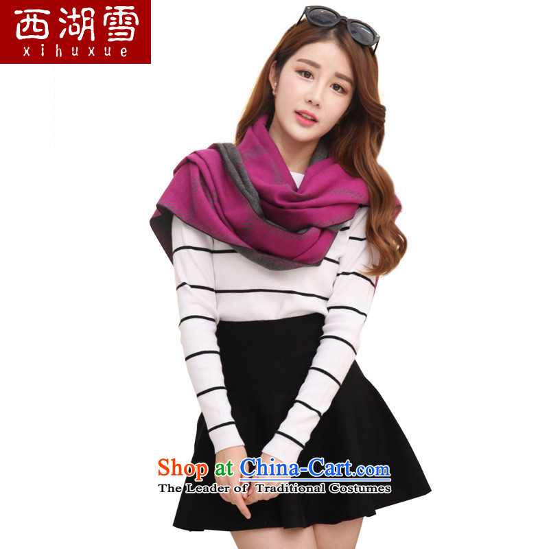 The Hsihu snow scarf female new thick scarves winter Korean extended warm in the Red Shawl