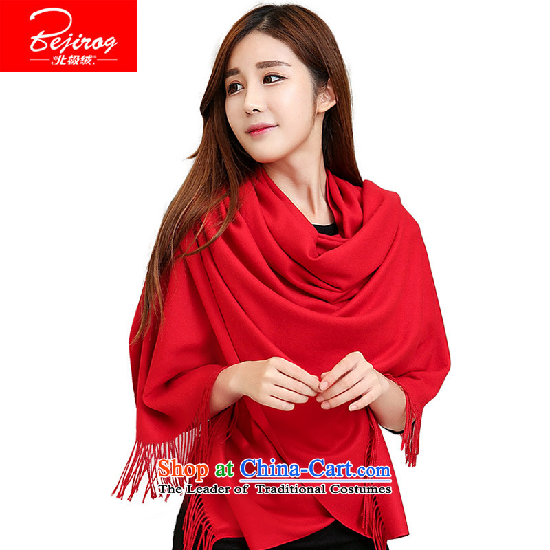 Arctic lint-free fall and winter warm thick scarves, long Korean leisure wild a shawl dual-use red