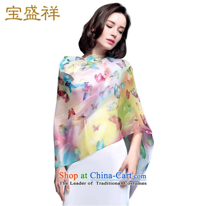 Eric blossom silk scarf herbs extract spring and autumn scarves Ms. silk summer anti-air-conditioning silk scarf shawl women chiffon long towel butterflies dancing group  AEROS