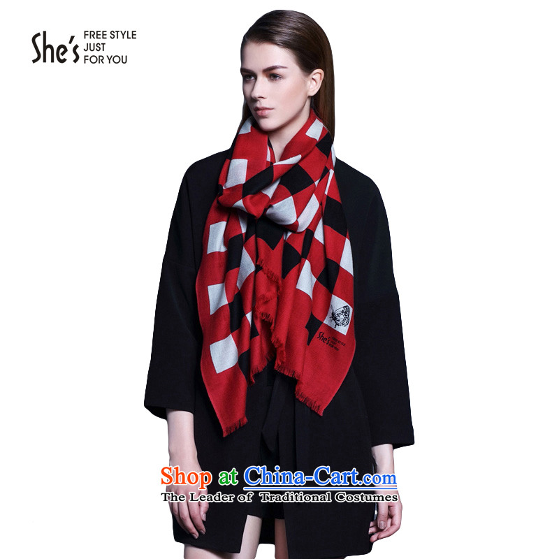 The end of the scarf accessories box she's stamp wool long scarf warm shawl femaleSSP95193390