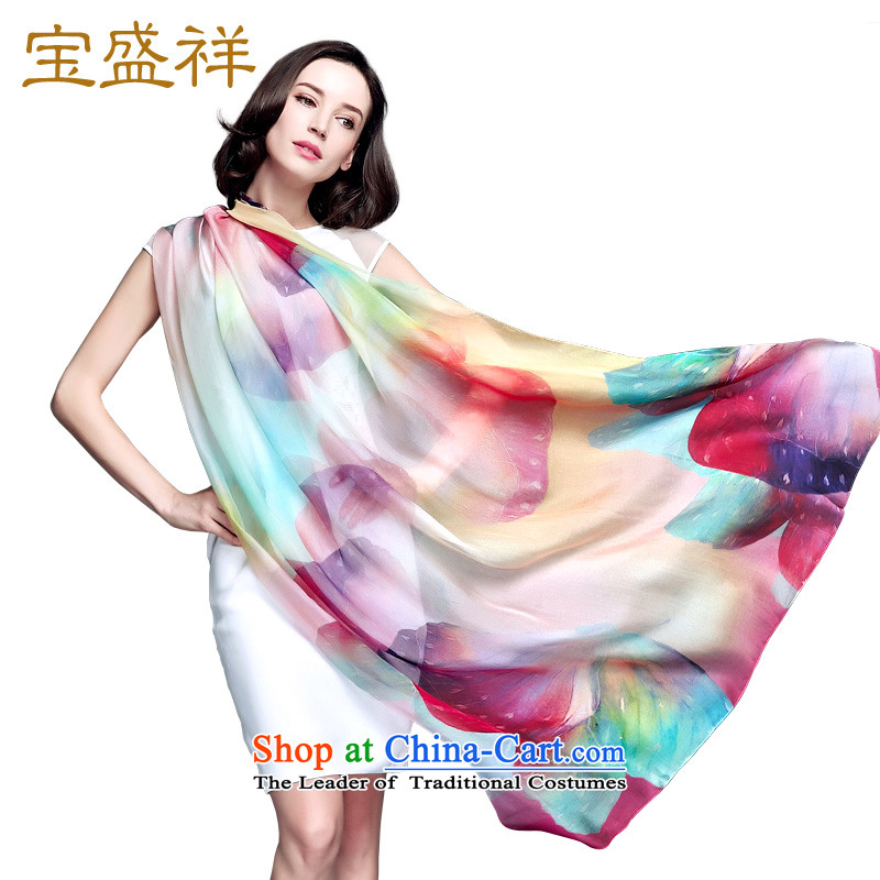 Eric blossom silk scarf herbs extract spring and autumn scarves Ms. silk shawls large colorful
