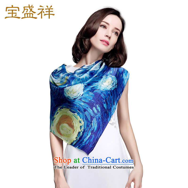 Eric blossom in the autumn of 2015, New herbs extract silk women shawl silk scarf a Van Gogh stars9301