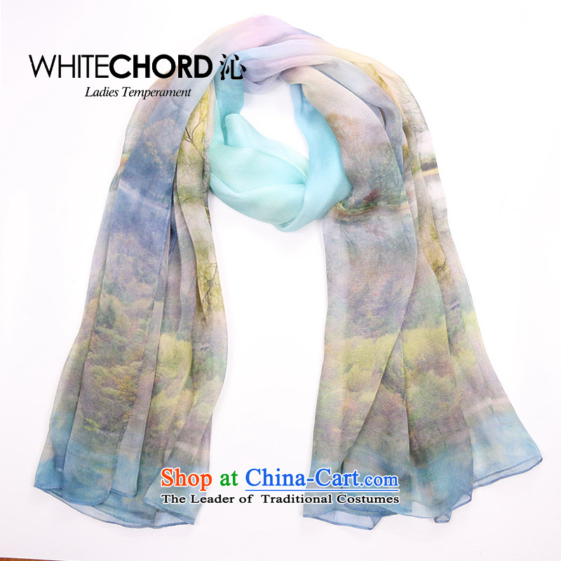 2015 Autumn and Winter Female new rectangular scarf upscale silk scarves 100 herbs extract long suit dream forest
