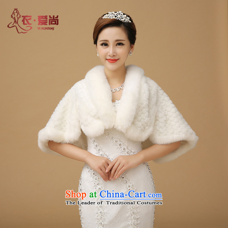 2015 new winter wedding shawl marriage shawl thick hair shawl Korean bridal dresses shawl shawl Warm White
