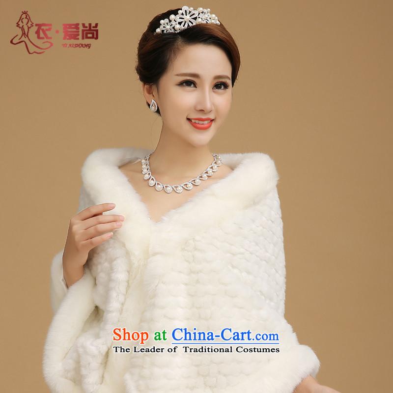 2015 new marriages gross shawl wedding dresses shawl winter wedding shawl jacket thick warranty gross Warm White