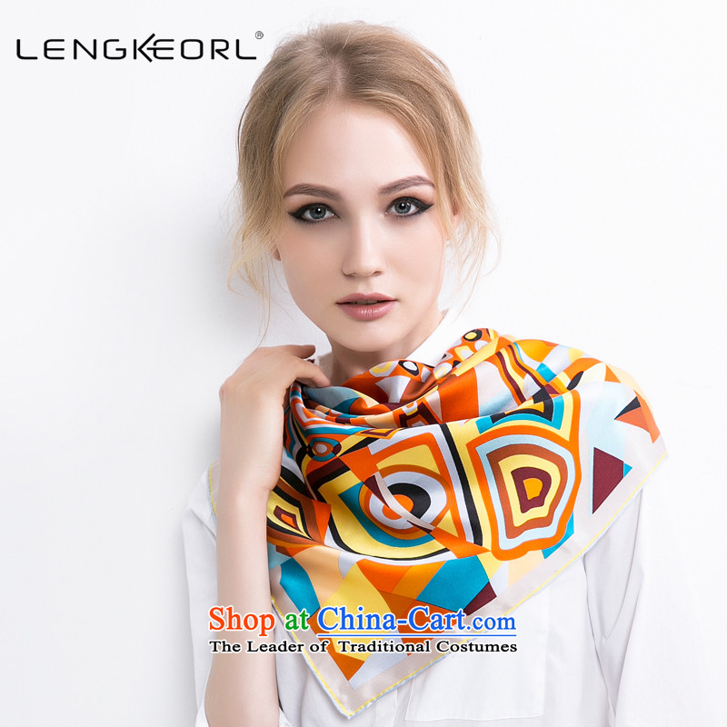 Ling Ke herbs extract and classy towel silk scarf silk scarf with two shawls female bank air hostesses attendants vocational silk scarf autumn and winter yellow yellow