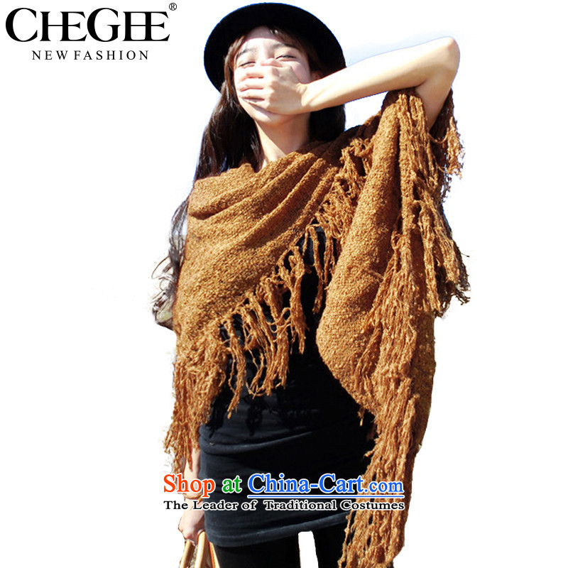 Chegee autumn and winter warm Knitting scarves knitted cardigans Europe and the mohair edging scarf khaki