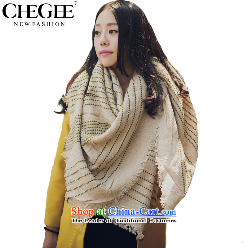 Ms. autumn and winter scarves CHEGEE western van cashmere knitted cardigans emulation warm sweater thick long stream of beige