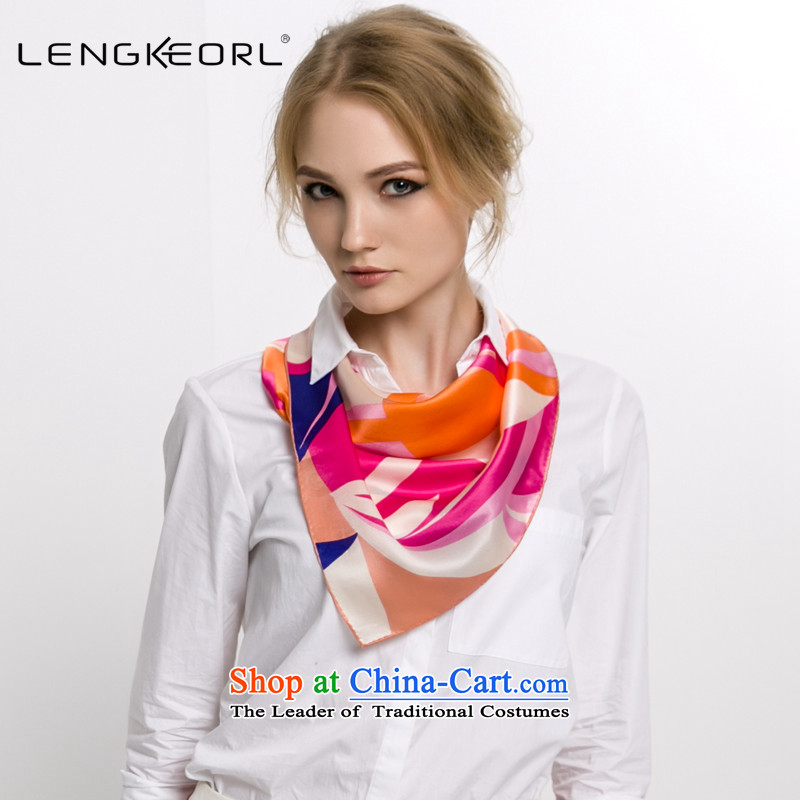 Ling Ke small scarf silk scarves herbs extract small towel turban bank air hostesses female occupational integration packages silk scarf Pink