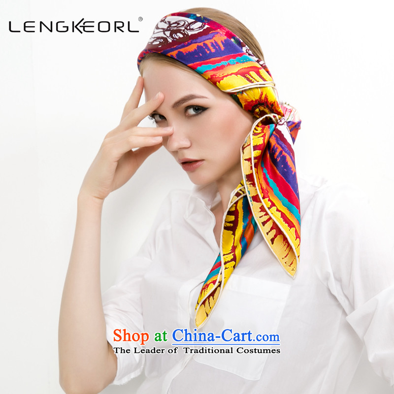 Ling Ke herbs extract silk and classy towel thin silk scarf Fancy Scarf winter two female square cloths with the turban, multimedia spirit habitat