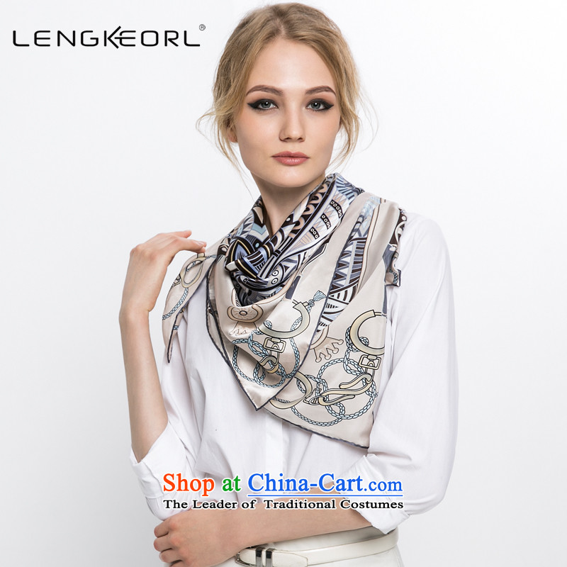 Ling Ke and classy towel shawl herbs extract silk scarves women of all air-conditioned shawl shawl blue autumn and winter Light Gray