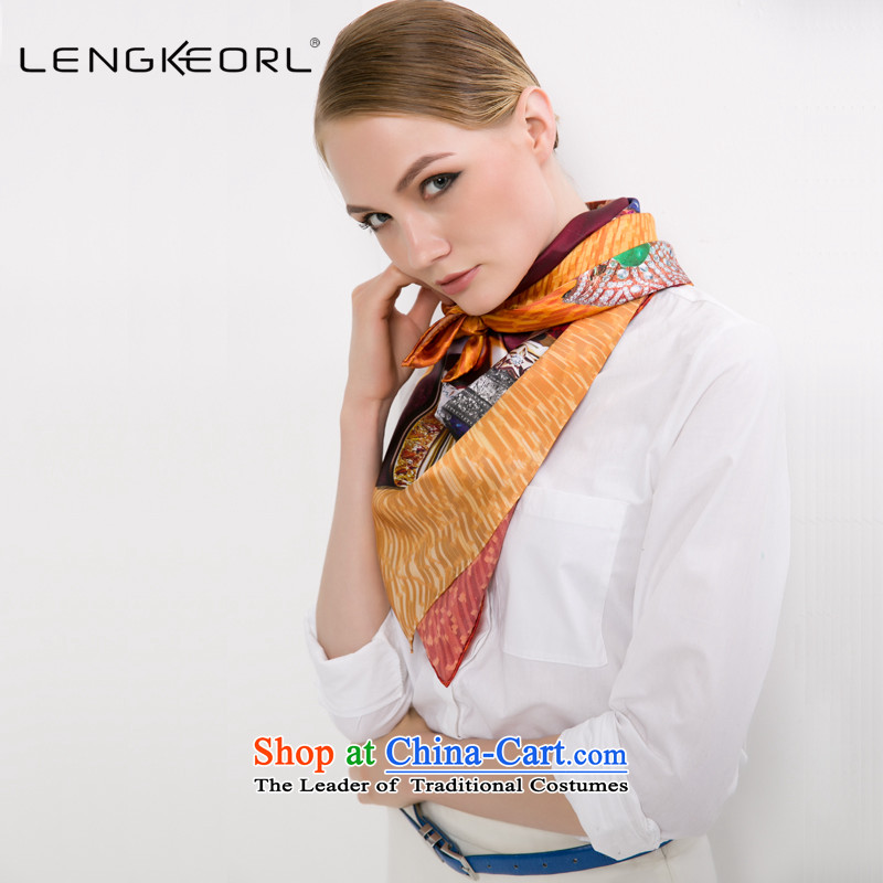 Ling Ke silk scarves and classy towel Maxi Ms. scarf air-conditioning with two shawls autumn and winter color painted Chinese Dance