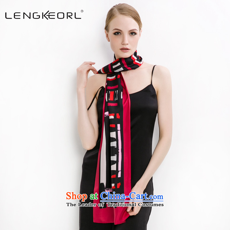 Ling Ke herbs extract of autumn and winter thin silk new silk scarves long scarves female long blue silk scarf red