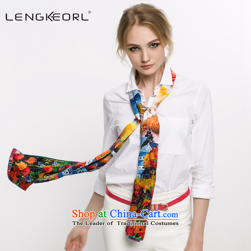 New Ling Ke of the Jurchen people silk scarves herbs extract vocational silk scarf long China wind of autumn and winter Long Red Shawl