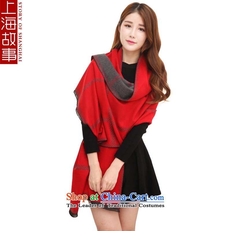 Shanghai Story autumn and winter warm thick scarves, long Leisure Korean wild a large Red Shawl