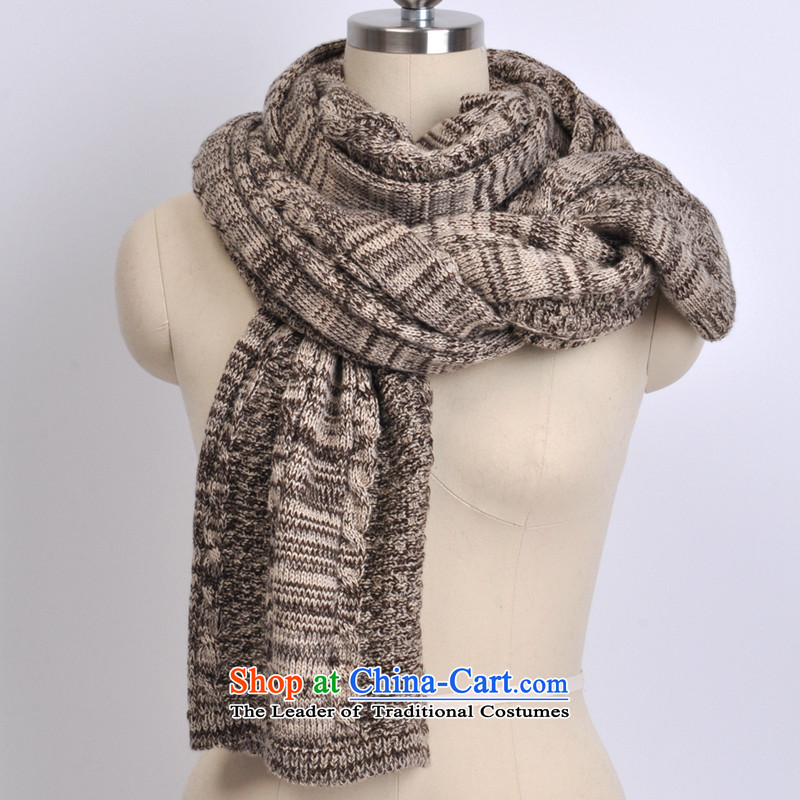 Ms. world scarves flower winter female Korean autumn Winter Sweater Knit scarves pure color couples long thick beige