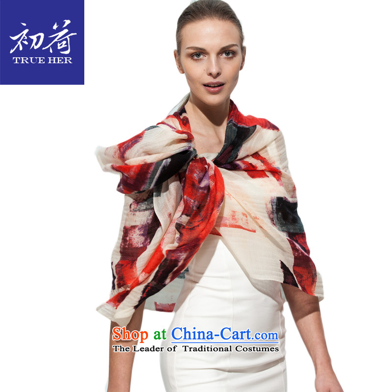 I should be grateful if you would arrange early Ms. silk scarf sunscreen shawl scarf two wool of autumn and winter cashmere blended long a painting series paintings red聽200cm
