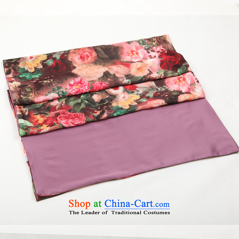 Hengyuan Cheung China wind of autumn and winter warm silk scarf Ms. long scarf digital print double-decker Big shawl431399#. Suit