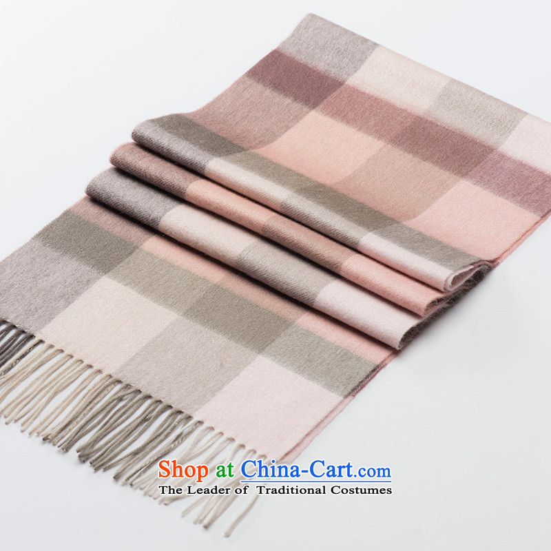 Hengyuan Cheung wooler scarf of autumn and winter cashmere warm thick Men who grew up in a compartment of the scarf plusgray powder of #11.