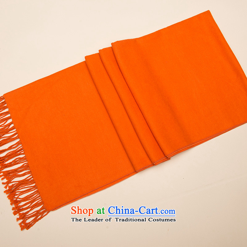Hengyuan Cheung scarf of autumn and winter Ms. thick silk scarfs warm color herbs extract large shawl orange.
