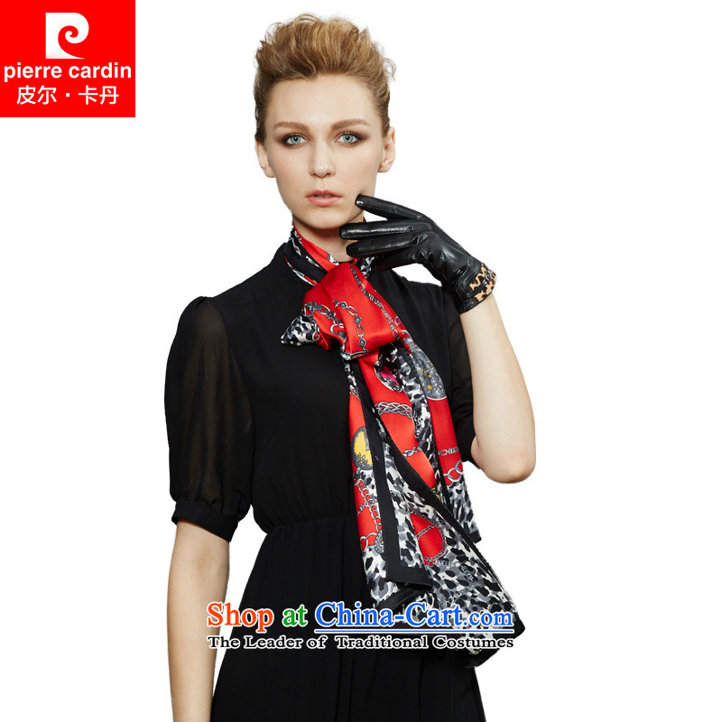 Pilka Dan autumn and winter new silk scarves female shawl herbs extract Red Scarf