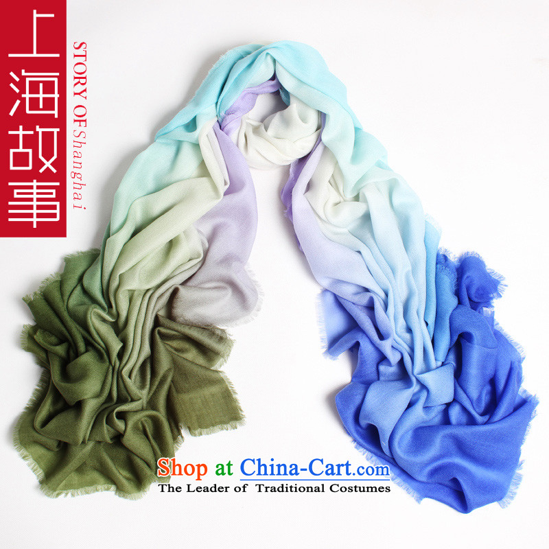 Shanghai Story autumn and winter new upscale gradient _pashmina shawl, pure cashmere grain of the From field with warm scarf high-end gift Scarf 1_