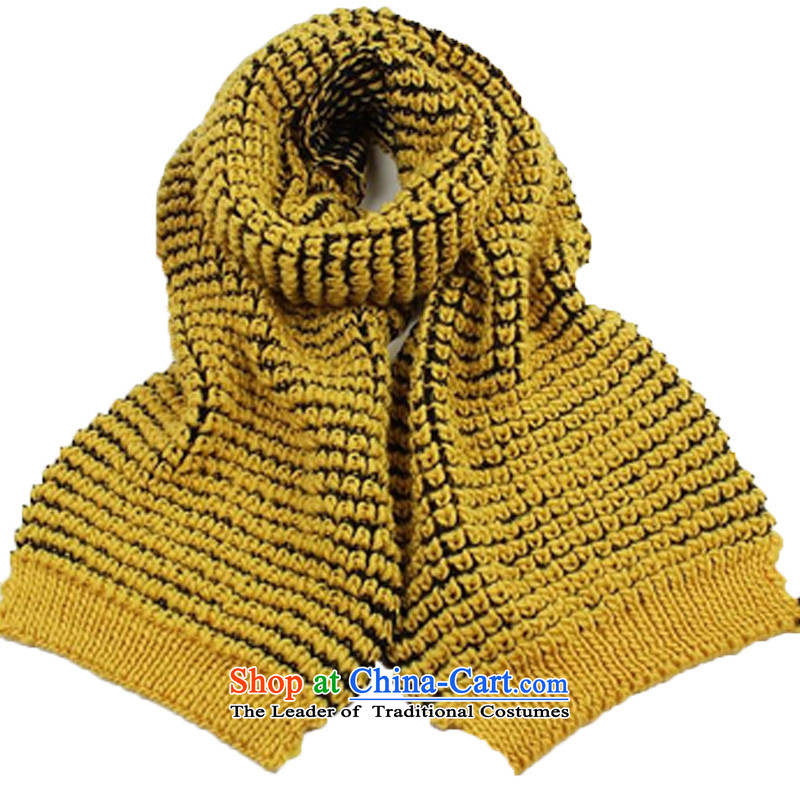 A forest 2015 new Korean Sleek and versatile leisure knitting extra thick warm Knitting scarves long double-sided available yellow